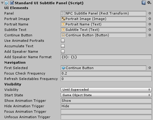 Dialogue System for Unity: Dialogue UIs